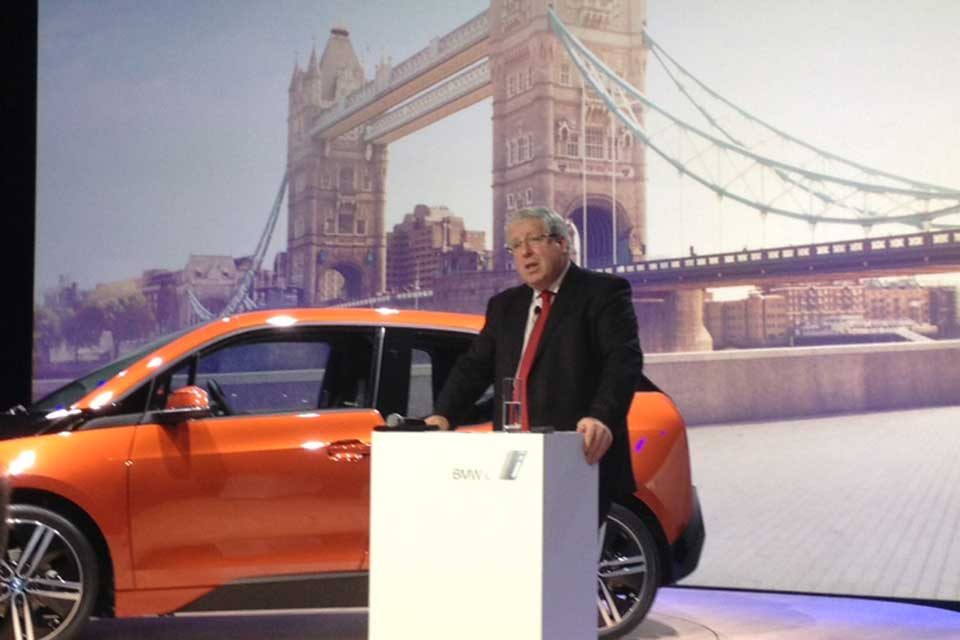 Transport Secretary Patrick McLoughlin at the launch of the i3