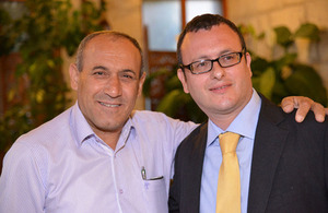 UK Ambassador to Israel Matthew Gould with the Mayor of Nazareth, Ramiz Jaraisy during the Embassy's Iftar.