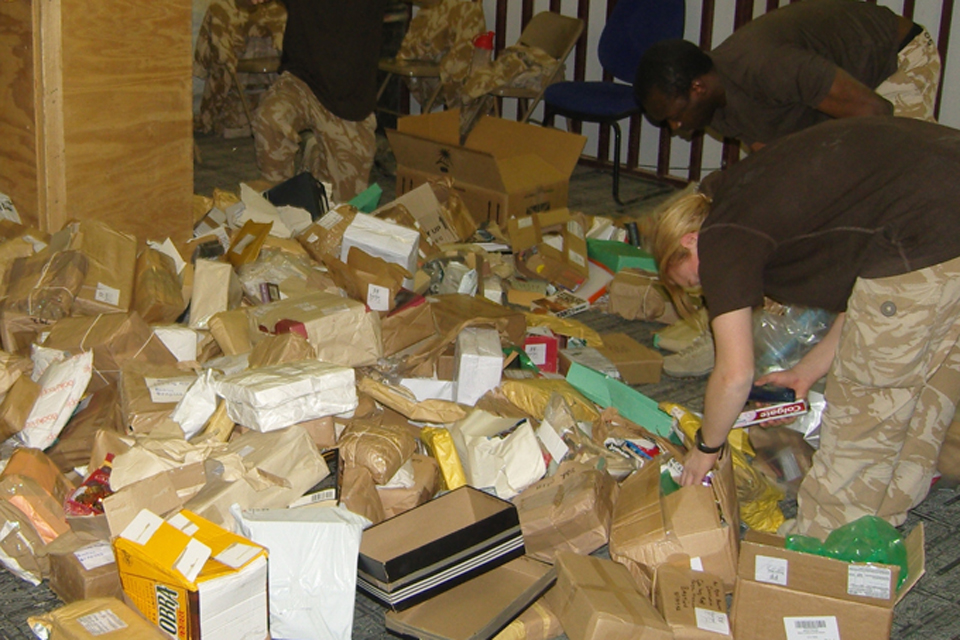 Staff at Lashkar Gah dealing with unsolicited mail