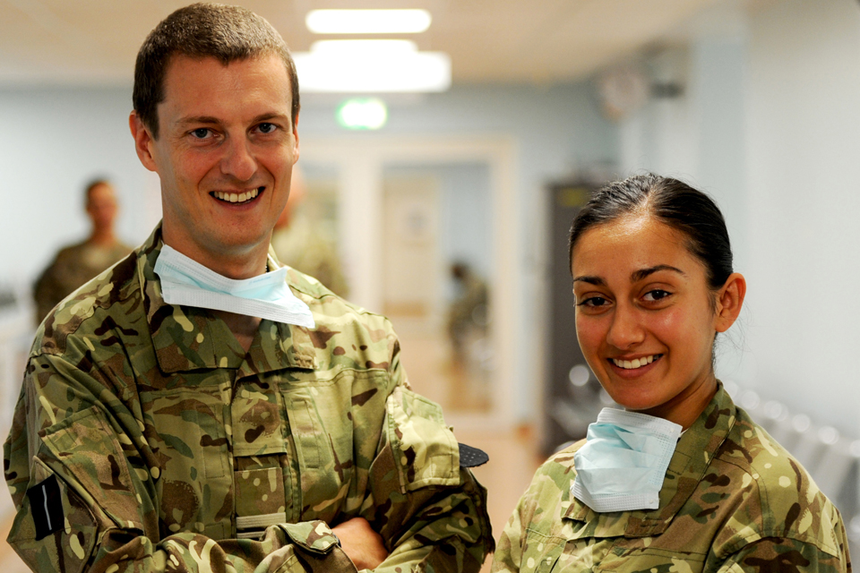 Squadron Leader Stuart Marshall and Private Naomi Kingsbury