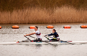 Captain Nick Beighton and his rowing partner Sam Scowen