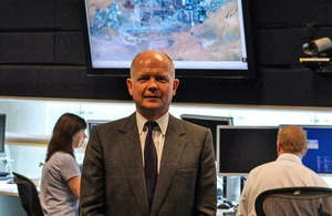 The Foreign Secretary William Hague at GCHQ