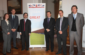 Heather Goodale (Embassy); Adam Robinson (BRE); Jon Benjamin (Ambassasor); Rodrigo Pérez (Housing Minister); Chris Scott (BRE); Ragnar Branth (Housing Ministry).