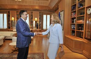 President Mikheil Saakashvili and Ambassador Hall Hall