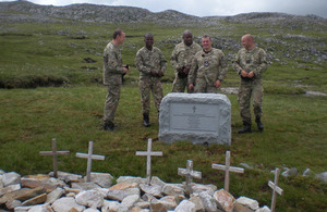 The 600-kilogram granite stone marking the spot where the 6 RAF aircrew lost their lives [Picture: Crown copyright]