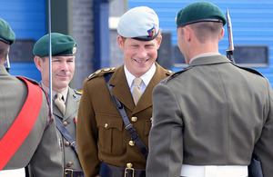Prince Harry at the opening ceremony of the Royal Navy's newly-built centre of amphibious excellence [Picture: Chief Petty Officer (Photographer) Rob Harding, Crown copyright]