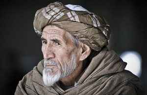 An Afghan elder at an Afghan Air Force open day at Kandahar Airfield