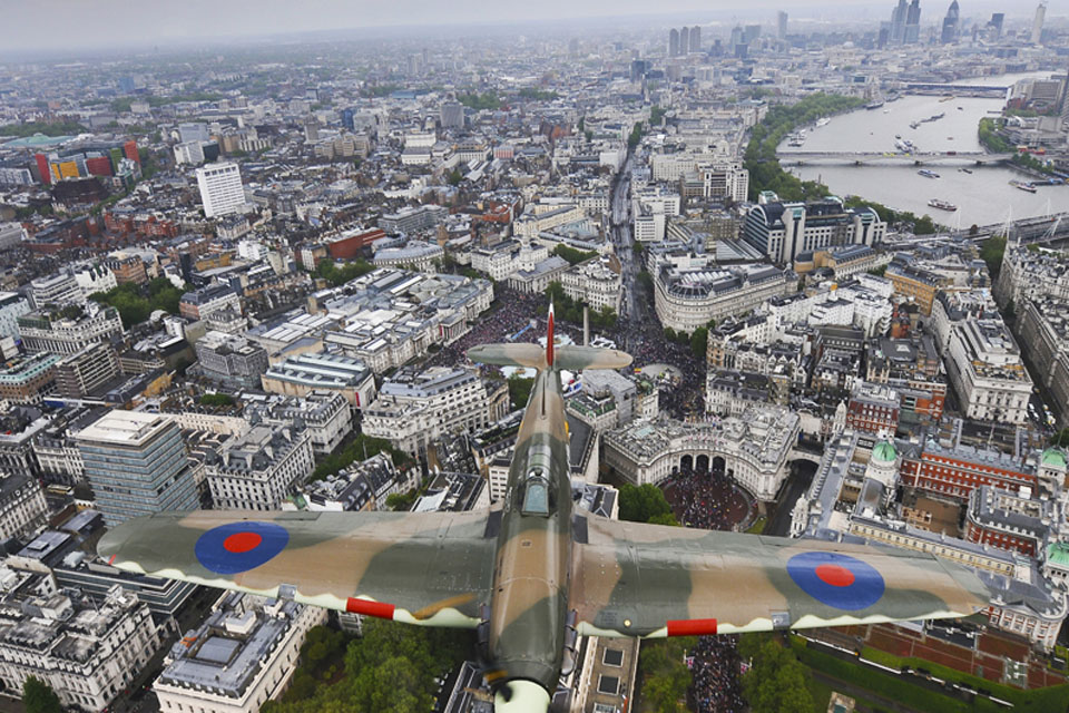 'London Hurricane', part of Her Majesty The Queen's Diamond Jubilee flypast over London