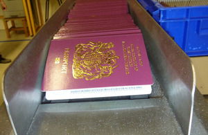 UK passports in production