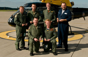 The Defence Helicopter Flying School teams