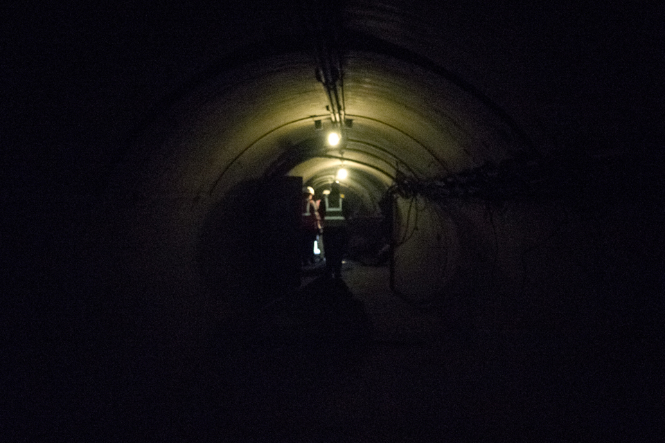 Dark foot tunnels of the old station