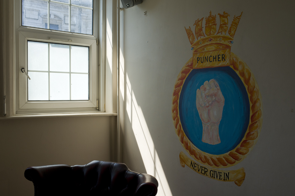 The crest of HMS Puncher