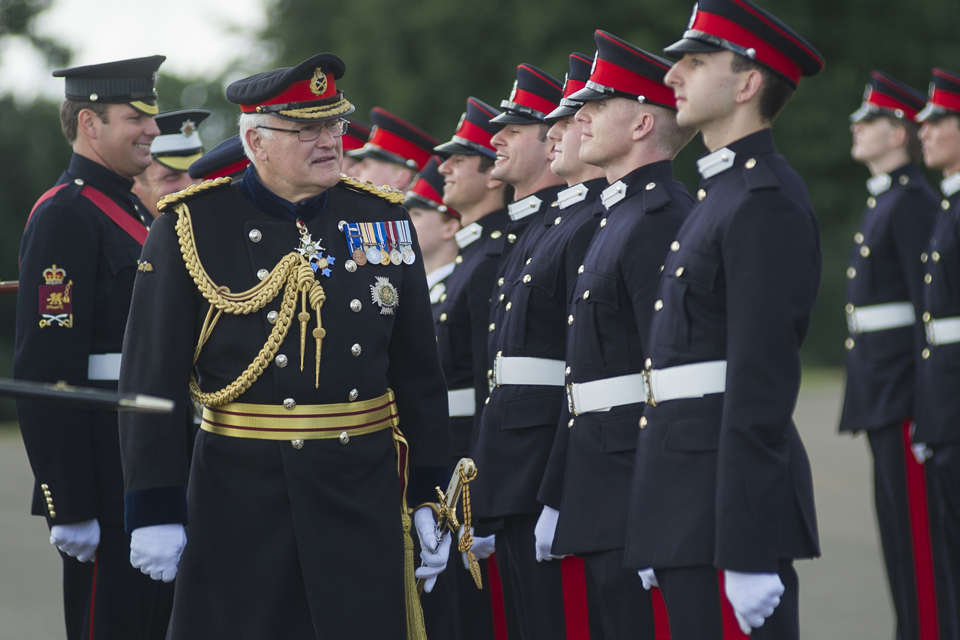 General Sir Peter Wall inspects the Parade