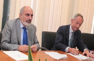 British High Commissioner, Matthew Kidd and Permanent Secretary of the Ministry of Finance, Mr Christos Patsalides