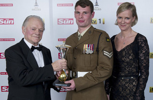 Sir David Jason, Corporal Oliver Kennedy and Hermione Norris (library image) [Picture: The Sun newspaper]