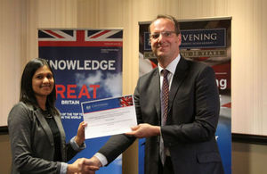 winner of Bloodhound/Chevening Scholarship in South Africa