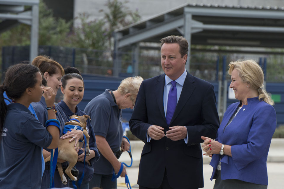 PM at Battersea Dogs & Cats Home