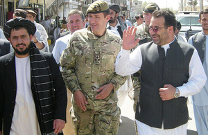 Brigadier Doug Chalmers and the outgoing Governor of Helmand province, Gulab Mangal (right)
