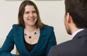 Jo Swinson at a meeting