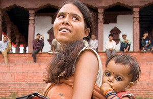 Mother and baby in Nepal