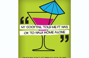 On holiday don't let your drink do the talking