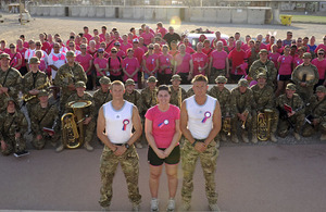 Service personnel from 904 Expeditionary Air Wing and their coalition partners run for charity