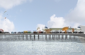 Artist's impression of new pier