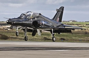 An RAF Hawk T2 fast jet training aircraft lands at RAF Valley (library image) [Picture: Corporal Paul Oldfield RAF, Crown copyright]