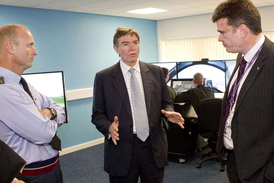 Philip Dunne at RAF Valley