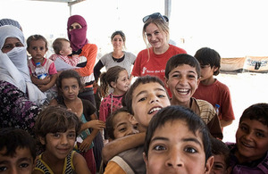 Save the Children's Katie Seaborne is based in northern Iraq where she is working on supporting Syrian refugees.