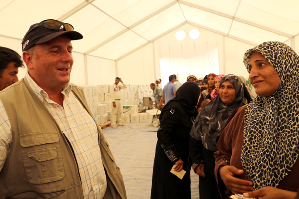 Jonathan Campbell oversees the World Food Programme's humanitarian projects assisting Syrian refugees in Jordan.