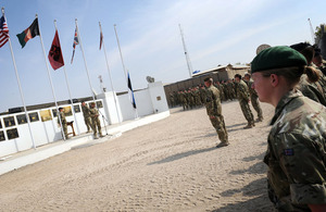 12th Mechanized Brigade hands over command of Task Force Helmand to 4th Mechanized Brigade