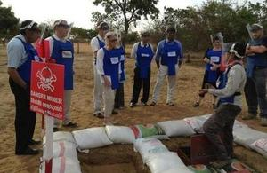 A six member delegation of British Parliamentarians visited the North of Sri Lanka last month and witnessed the UK funded demining programme.