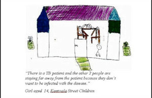 Drawing by a Zambian street child describing the stigma experienced by TB sufferers