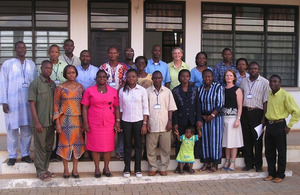 Participants in the capacity development for malaria course