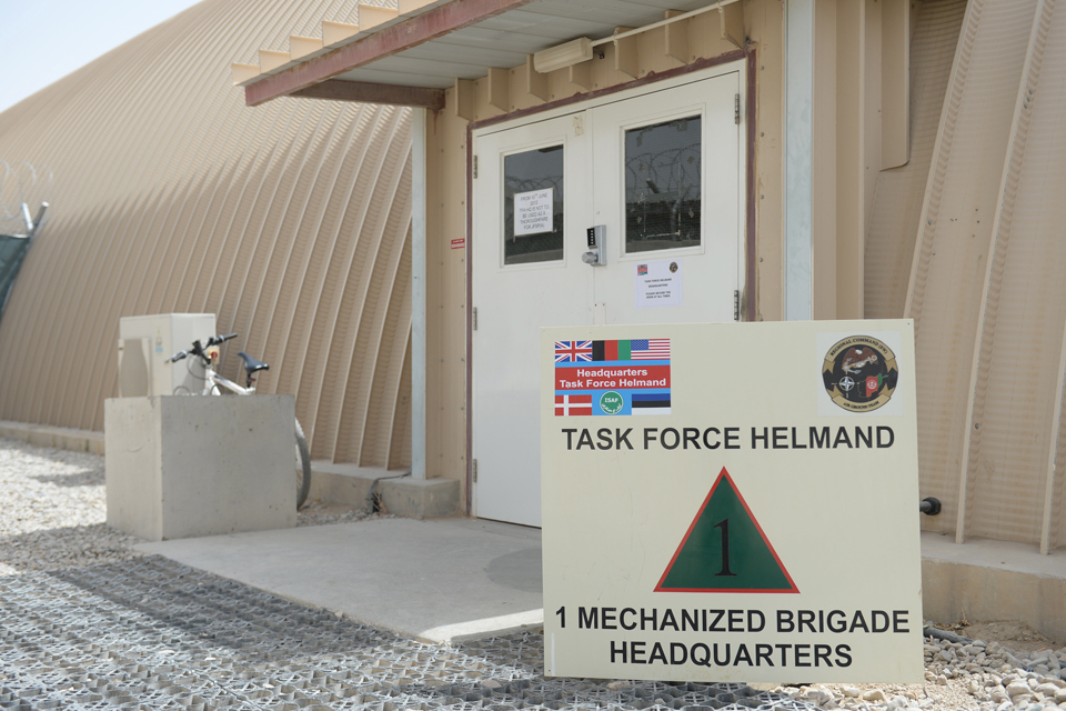 The new Task Force Helmand headquarters building