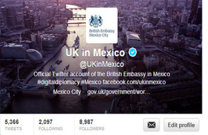 UK in Mexico Twitter