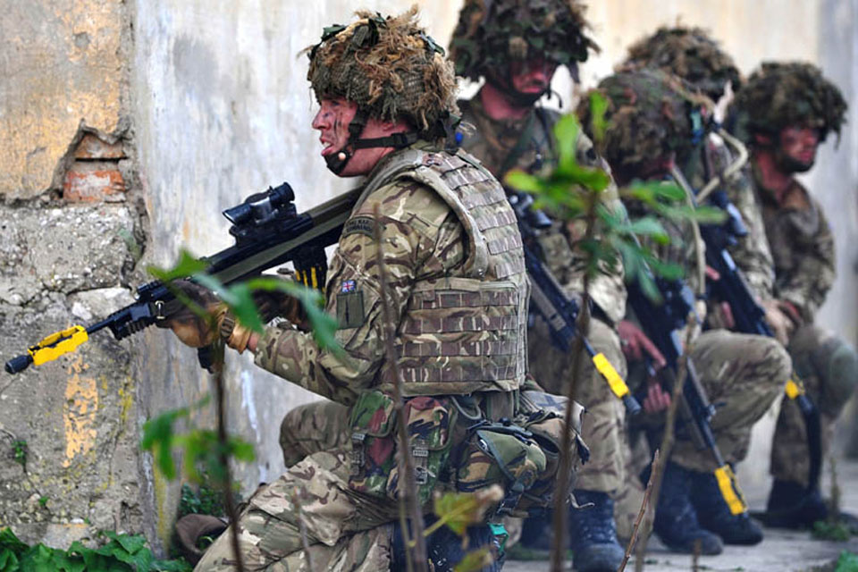 British and Albanian forces taking part in Exercise Albanian Lion on Sazan Island