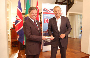 Brazillian Ambassador to Singapore, Luis Fernando Serra and Former British PM Tony Blair