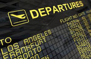 Airport departures board (© shutterstock)