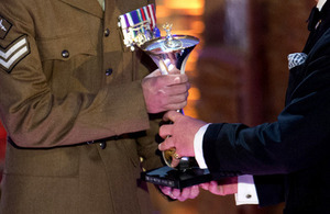 A Sun Military Award being presented in 2012 [Picture: Arthur Edwards, Copyright The Sun]