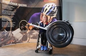 Shelly Woods with new racing wheelchair