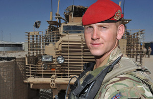 Lance Corporal Aiden Cooper, from 253 Provost Company of the Royal Military Police