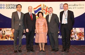 Paul Bute with senior officers from Ministry of Education and British Council Thailand