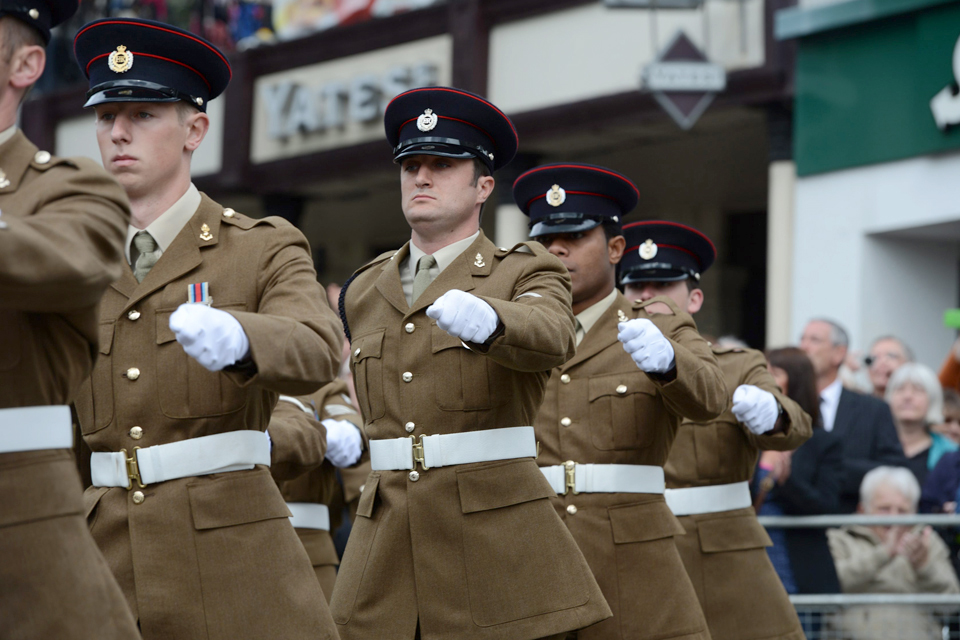 Soldiers from 64 Works Group Royal Engineers