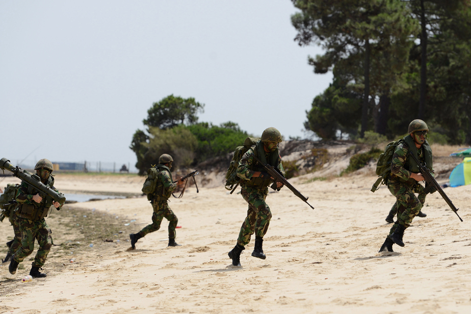 A troop beach assault