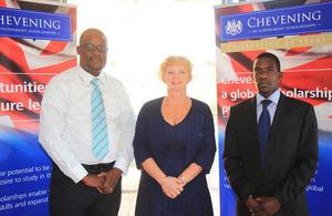 Alison Blackburne, Galabuzi Mugenyi and Pascal Mukisa