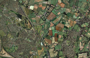 Aerial shot of England