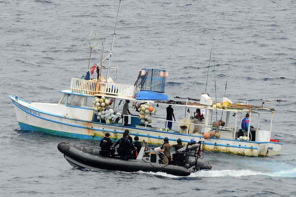 A vessel strongly suspected of smuggling is detained