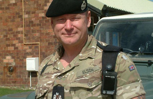 Training Safety Marshal Warrant Officer Class 1 Jeff Elson wearing one of the new body cameras [Picture: Crown copyright]